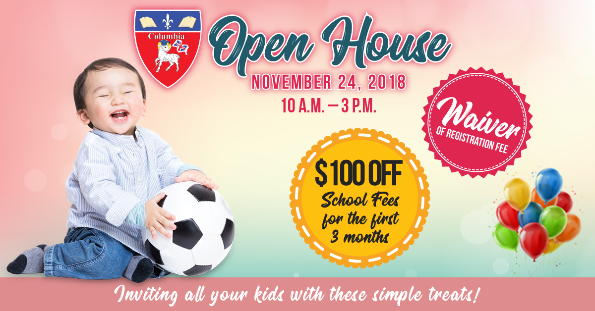 88c4ccee27 Columbia Junior Academy Open House - Get Exclusive $100 OFF School Fees &  Waiver of Registration Fee